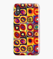 Kandinsky Modern Squares Circles Colorful iPhone Case