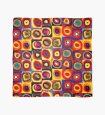 Kandinsky Modern Squares Circles Colorful Scarf
