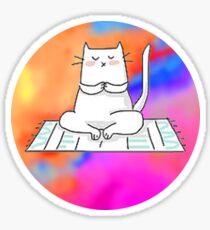 cat doing yoga Sticker