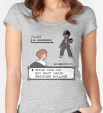 Pulp Fiction fight! Women's Fitted Scoop T-Shirt