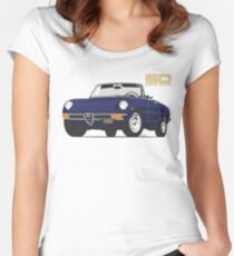 Alfa Romeo Series 2 Spider blue Women's Fitted Scoop T-Shirt