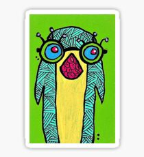 Penguin with Glasses Sticker