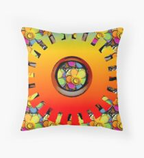 Dafwheel Throw Pillow