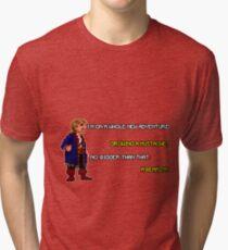 Guybrush Threepwood - Mustache Quote Tri-blend T-Shirt