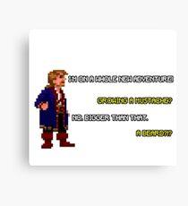 Guybrush Threepwood - Mustache Quote Canvas Print