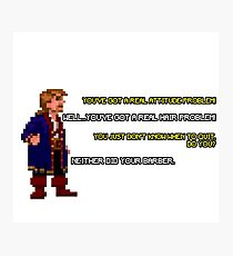 Guybrush Threepwood vs Meathook Photographic Print