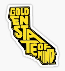 Golden State of Mind Black/Yellow Sticker