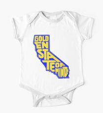 Golden State of Mind Blue/Yellow One Piece - Short Sleeve