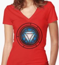 The Arc Reactor Women's Fitted V-Neck T-Shirt