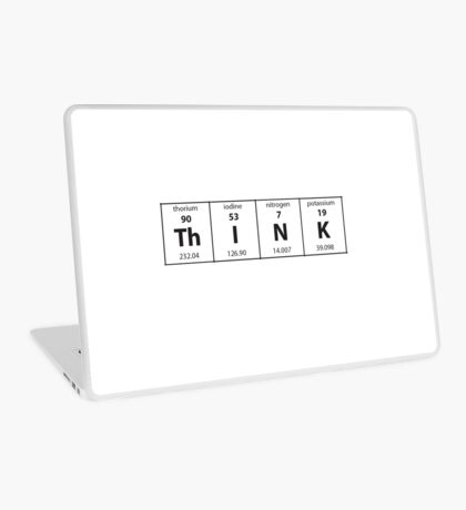 Periodic Table Think   Chemistry Laptop Skin