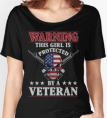 This Girl Is Protected By A Veteran Women's Relaxed Fit T-Shirt