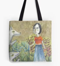 Lady Dances with Wolves Tote Bag