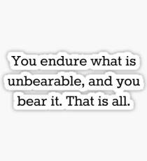 Unbearable Magnus Bane Quote Sticker