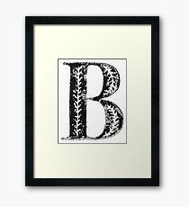 Serif Stamp Type - Letter B Framed Print