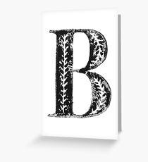 Serif Stamp Type - Letter B Greeting Card