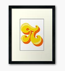 Retro-Flavored Pi Framed Print