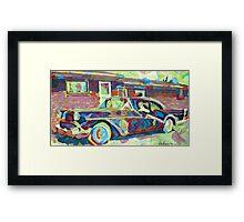 Grandma is Here! Classic car Picture Framed Print