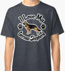 Camiseta clásica I Love My German Shepherd Tee Shirt
