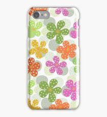 Vibrant Floral Pattern - Green Pink Orange Yellow  iPhone Case/Skin