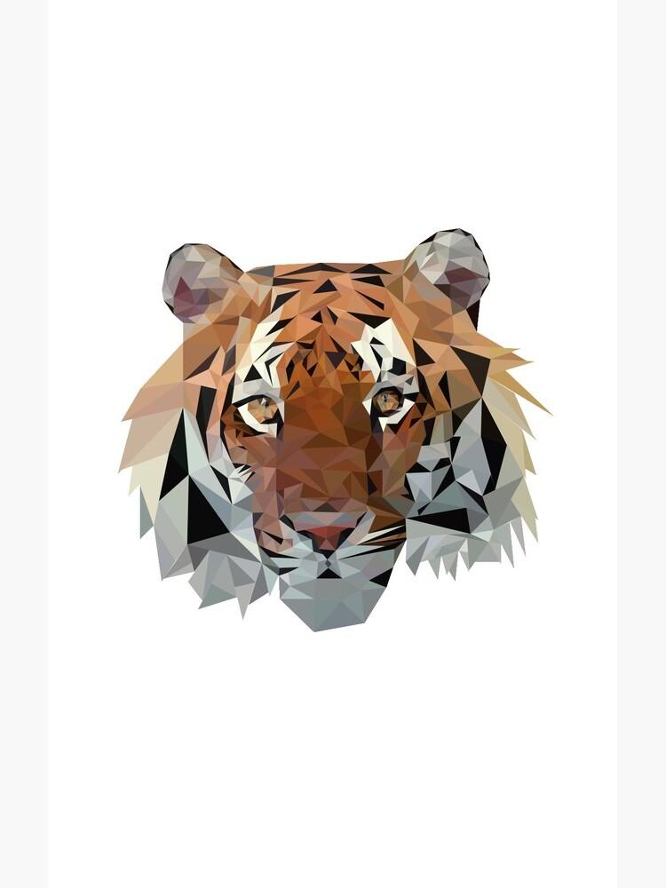 Geometric Tiger by Reddmatter