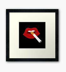 Cigarette Lips Framed Print