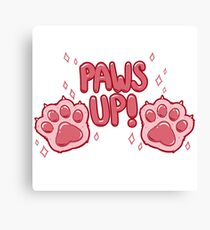 Paws Up! (pink) Canvas Print