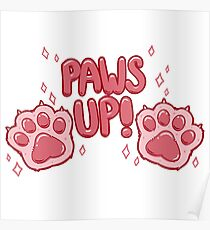 Paws Up! (pink) Poster