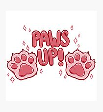 Paws Up! (pink) Photographic Print