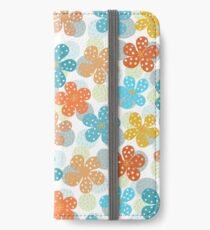 Vibrant Floral Pattern iPhone Wallet