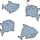 Lil Fat Sharks by tobiejade
