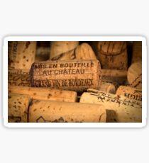 Wine bottle cork from Bordeaux Sticker