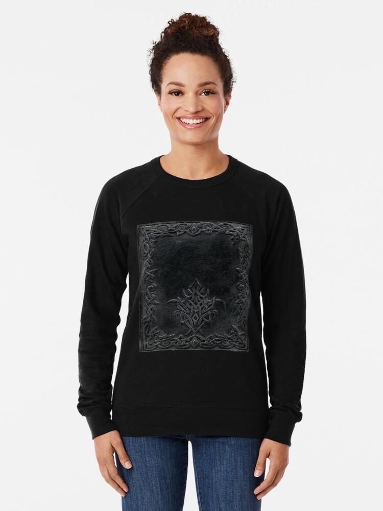 Alternative Ansicht von Stammes-Rand-Bucheinband-Dunkelheit Leichter Pullover
