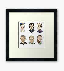 Sherlock Holmes cast Framed Print