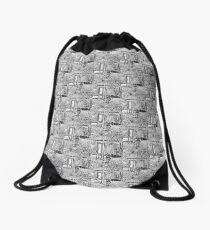 Life's Meaning by Diamante Lavendar Drawstring Bag