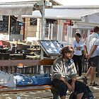 Just Vegging out in La Rochelle, France by Elaine Teague