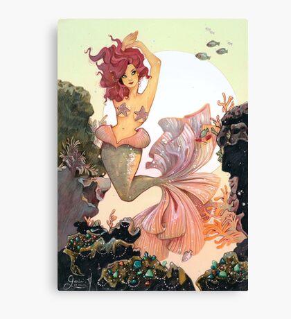 Cherry Mermaid Canvas Print