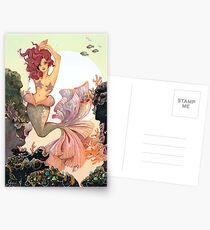 Cherry Mermaid Postcards