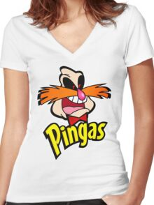 PINGAS : PARODY Women's Fitted V-Neck T-Shirt
