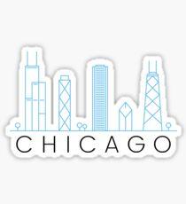 Chicago Skyline - minimalistisch und modern Sticker