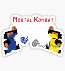 Retro Mortal Kombat Sticker