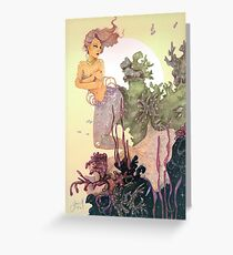 Purple Mermaid Greeting Card