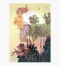 Purple Mermaid Photographic Print
