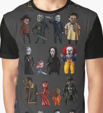 Icons of Horror Graphic T-Shirt