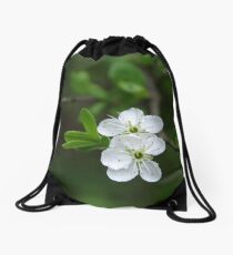Pure As White Drawstring Bag