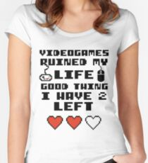 Videogames ruined my life Women's Fitted Scoop T-Shirt