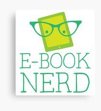 e-book nerd Canvas Print