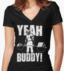 YEAH BUDDY (Ronnie Coleman) Women's Fitted V-Neck T-Shirt