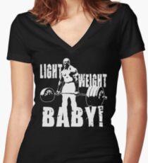Leichtes Baby! (Ronnie Coleman) Tailliertes T-Shirt mit V-Ausschnitt