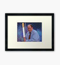 George Costanza cigarette bat vaporwave 420 Framed Print