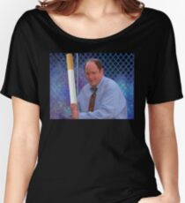 George Costanza cigarette bat vaporwave 420 Women's Relaxed Fit T-Shirt